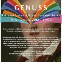 Plakat Lesetreff November